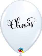 Simply Cheers Balloons (White) - 11 Inch Balloons 25pcs